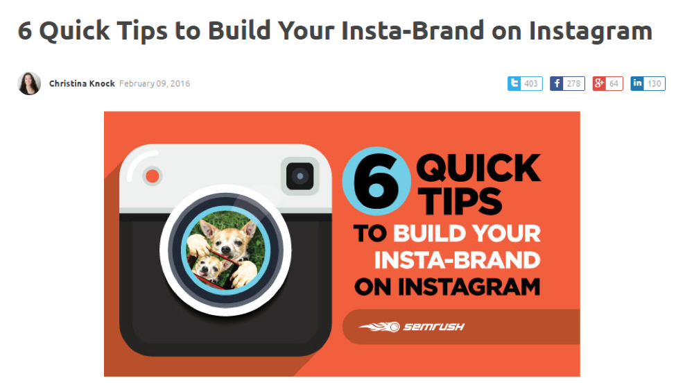 Marketing Influencers -- tips to build your insta-brand on Instagram