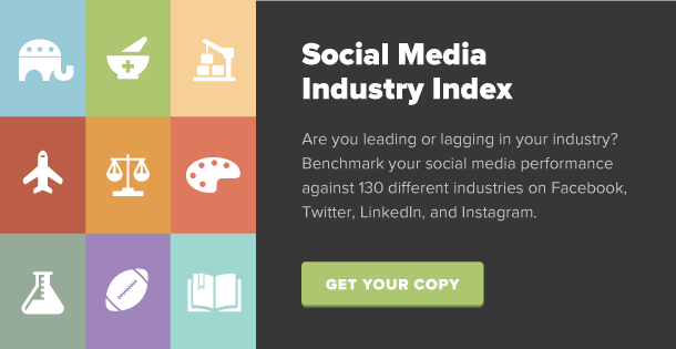 industry benchmarks on social media