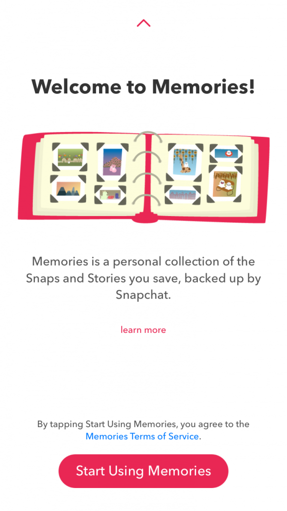 Snapchat Memories -- Welcome to Memories!