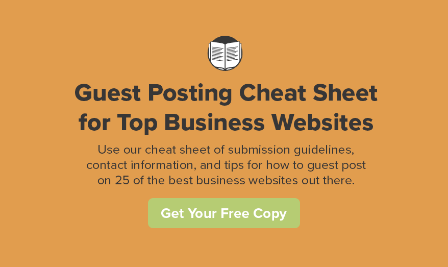 How to Guest Post on 25 of the Best Business Websites